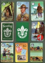 Collectable Vintage cards game Scouting by Pepys. 1955